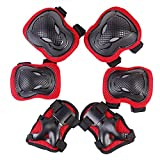 Kyпить Rayhome Sports Protective Gear Skating Knee Elbow Support Pads Set outdoors Safety Protection for Scooter, Skateboard, Bicycle, Rollerblades (red) на Amazon.com