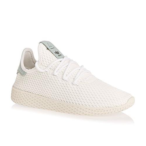 adidas Originals Pharrell Williams Tennis Hu White Green Textile Youth  Trainers  Amazon.es  Zapatos y complementos 5b049c05857