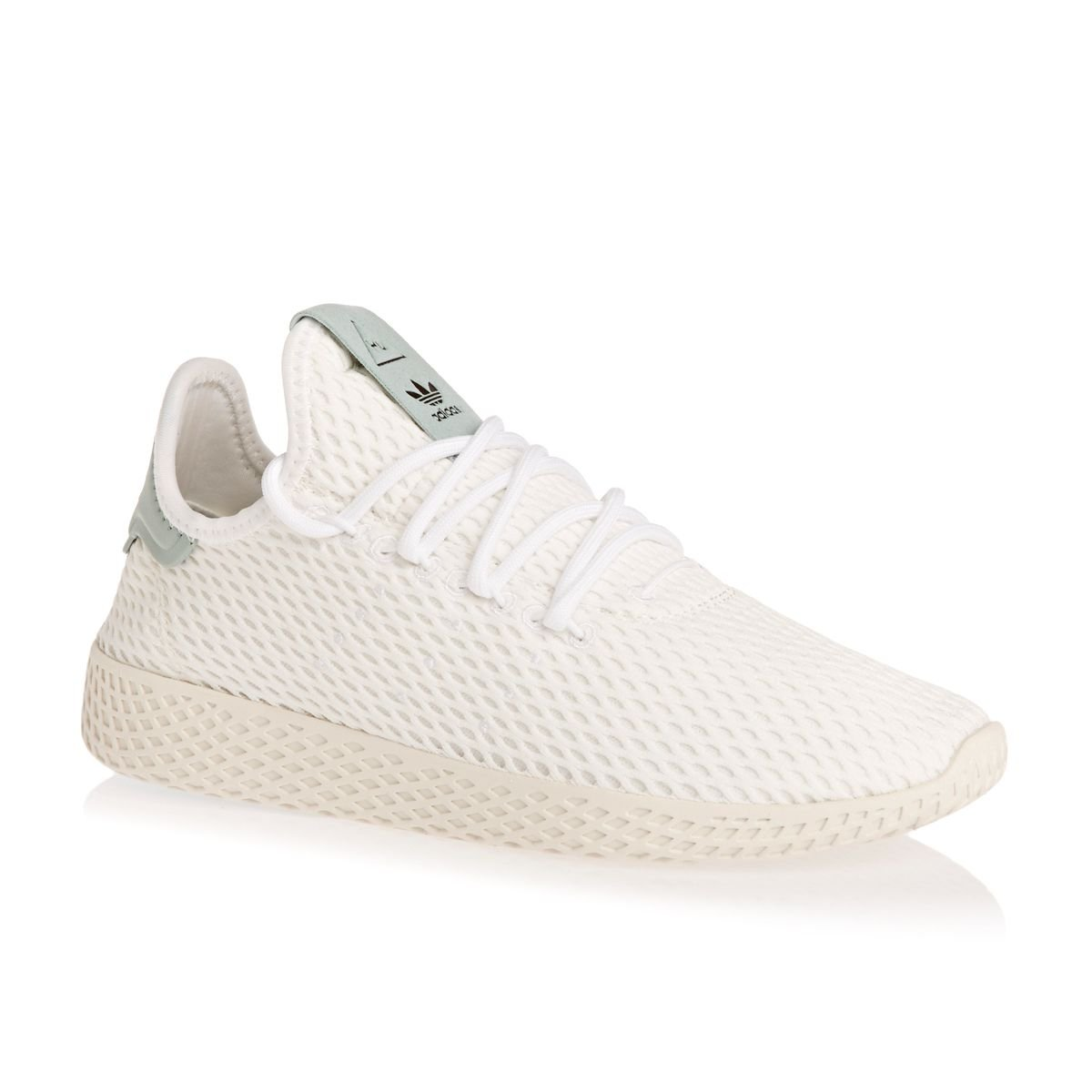 adidas Men's Pw Tennis Hu Sneaker B074J6G4V2 7 M US|Light Green, White