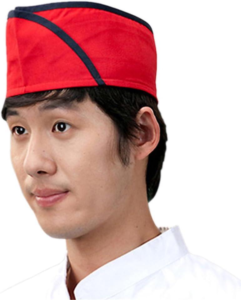 ChefsUniforms Sushi Japanese Working Restaurant red Chef hat Cook Cap for Men and Women Waiter