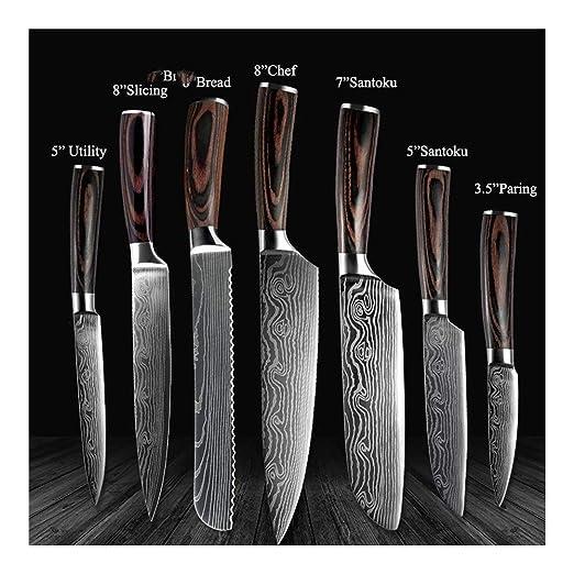 Compra SYYL Cuchillos De Cocina De 8 Pulgadas For Uso ...
