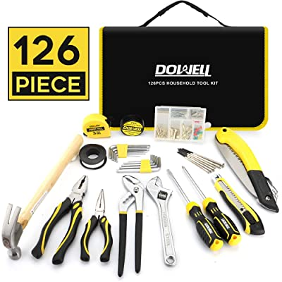 DOWELL Tool Set 126 Piece General Portable Household Hand Tools Set With Tool Bag Storage Case: Home Improvement