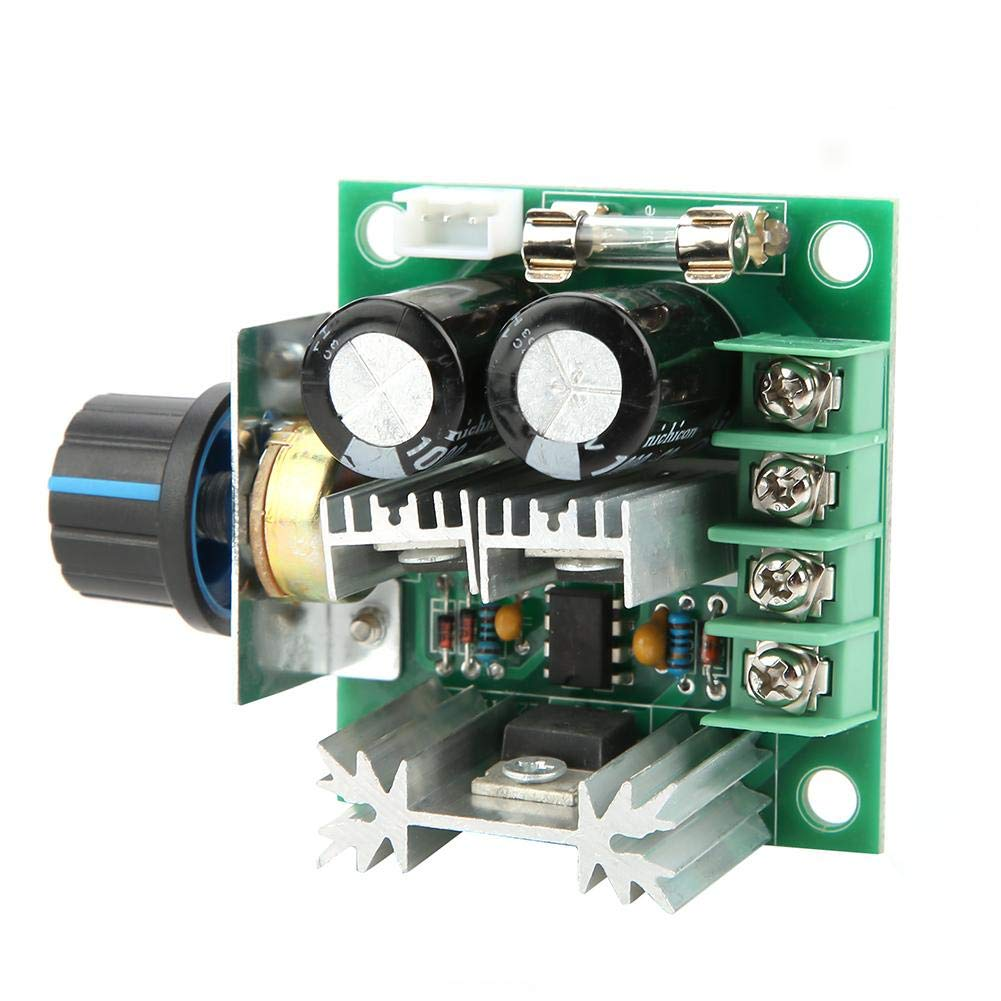 FTVOGUE Motor Speed Controller Module 12V-40V 10A PWM DC Governor Stepless Variable Speed Control Switch