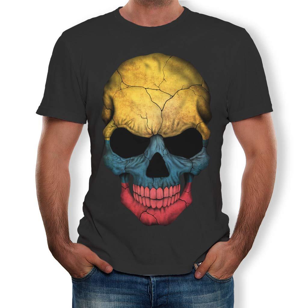 Camiseta para Hombre,Verano Manga Corta 3D Impresi/ón Moda Originales Camiseta Casual T-Shirt Blusas Camisas Camiseta Cuello Rojoondo Suave b/ásica Camiseta Top vpass