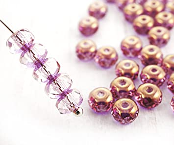 60114ac2d047b Amazon.com: 30pcs Crystal Tanzanite Purple Metallic Bronze Luster ...