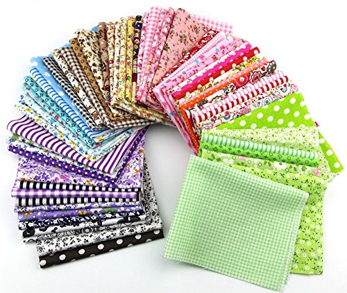 Fabric Patchwork Craft Cotton Material Mixed Squares Bundle 20*25cm 15pcs (Bundle Squares)