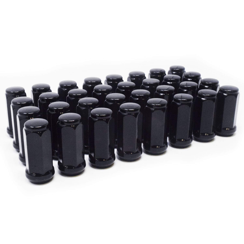Mastiff 13759BK, Acorn Bulge After-Market Lug Nut Set - M14X1.5 Thread, Black Chrome Finish, 3/4 Hex, 60 Degree Conical Seat (Pack of 32)