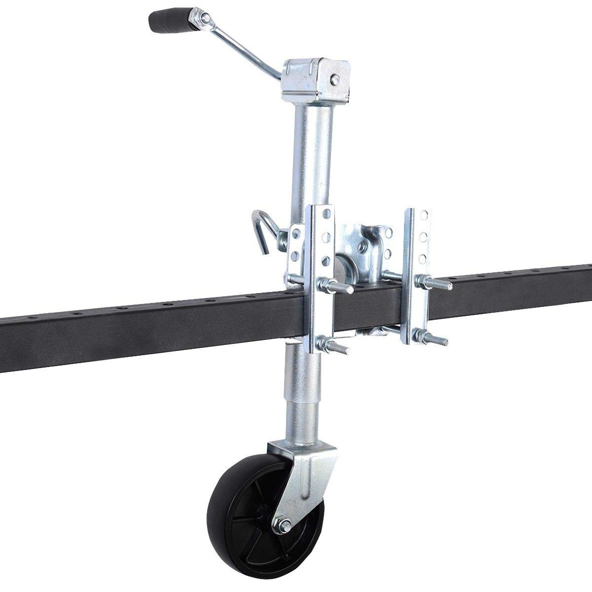 CWY 1000 lbs Swing Away Trailer Jack with Swivel Wheel Only by eight24hours