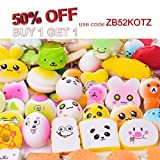 LEEHUR Squishies Slow Rising 20Pcs Kawaii Squishies Pack Random Squeeze Funny Toys Stress Relief Toys with Keychain for Kids Party Supplies School Classroom Rewards by