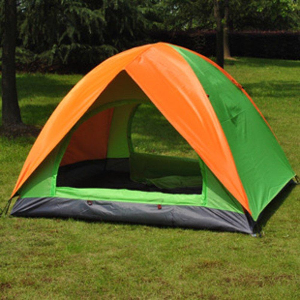 TY&WJ Campingzelt Double Layer Kuppelzelte Tragbares Zelt Für Outdoor-sportarten Wandern Klettern Doppeltür 4-jahreszeiten 2 Personen
