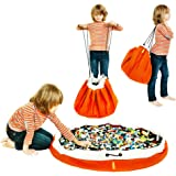 Swoop Toy Storage Bag - Orange - Ideal for organizing and Cleaning up Legos!
