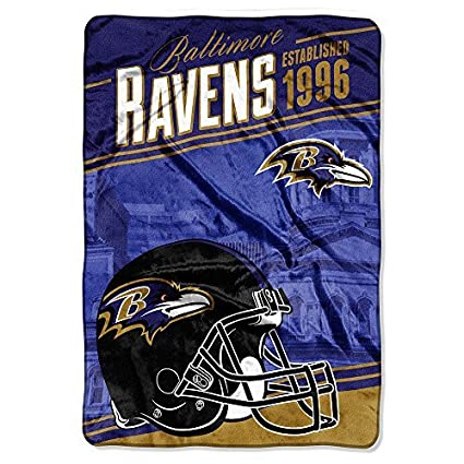 e9775696 Northwest 076 Baltimore Ravens NFL Stagger Oversized Micro Raschel (62in x  90in)