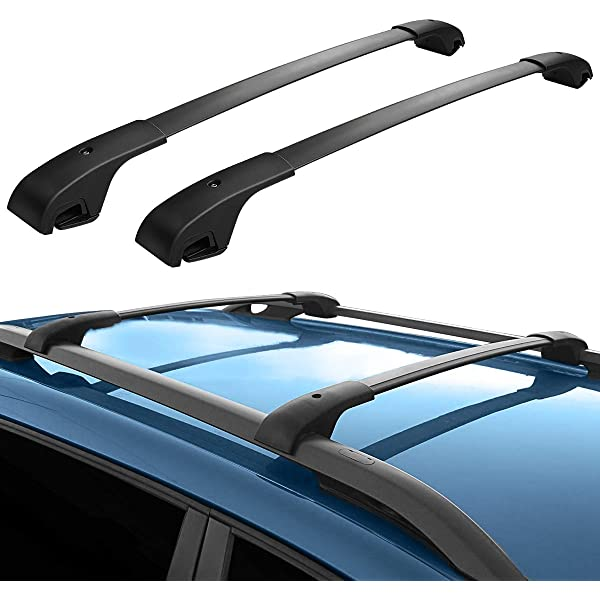 SCITOO fit for Jeep Cherokee 2014 2015 2016 2017 2018 2019 Aluminum Alloy Roof Top Cross Bar Set Rock Rack Rail