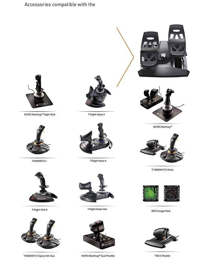 free shipping 8e55b 2f381 Thrustmaster TFRP Flight Rudder Pedals for PC    Amazon.in  Electronics