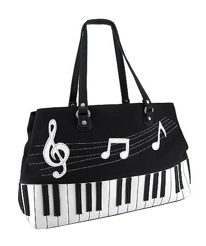 Black And White Piano Keys Music Symbol Canvas Handbag Amazon