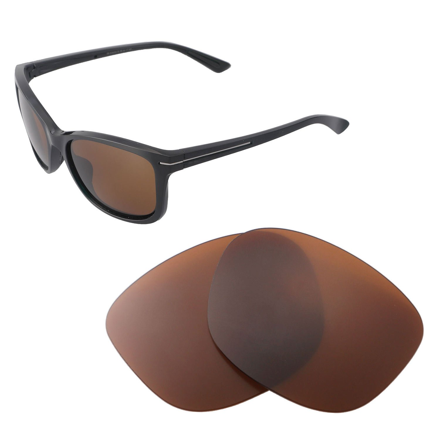 6c2637d21bd95 Amazon.com: Walleva Replacement Lenses for Oakley Drop in Sunglasses -  Multiple Options Available (Brown - Polarized): Clothing