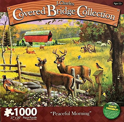 Charles Covered Bridge Collection Karmin-Special Purchases 1000 Piece Jigsaw Puzzle,Peaceful Morning J