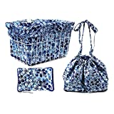 Cruiser Candy Blue Hawaiian Hibiscus Bicycle Basket Liner