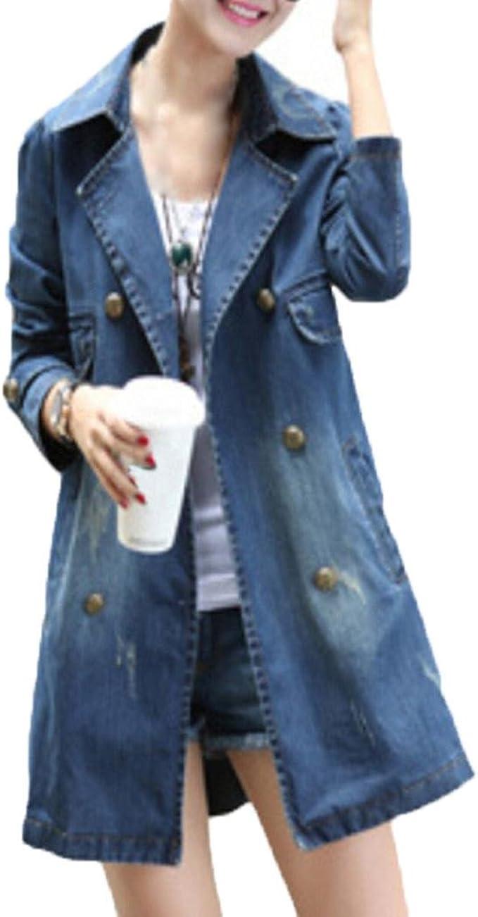 damen denim kapuzen jeansjacke trench outerwear jeans mantel jacke windjacke