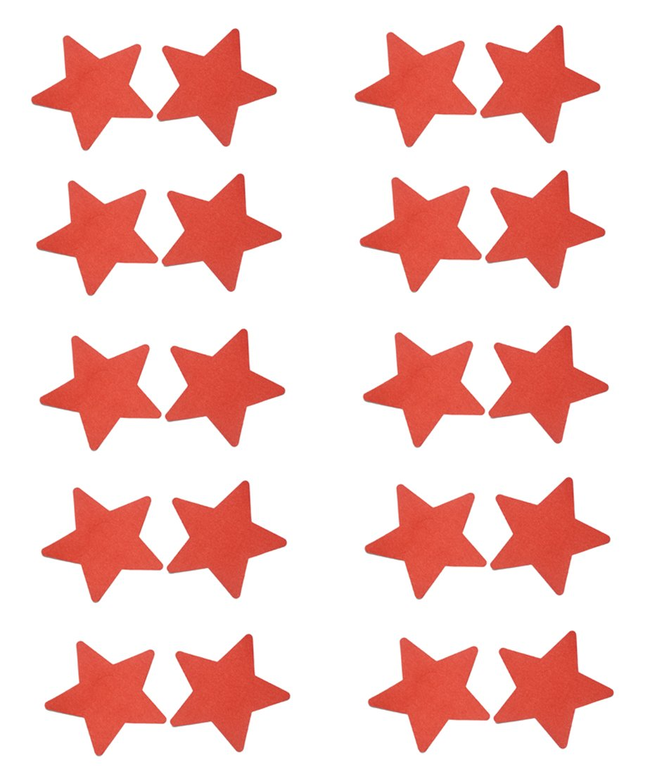 20pcs Women Adhesive Nipple Cover Disposable Lingerie Pasties Star C-YOUNG