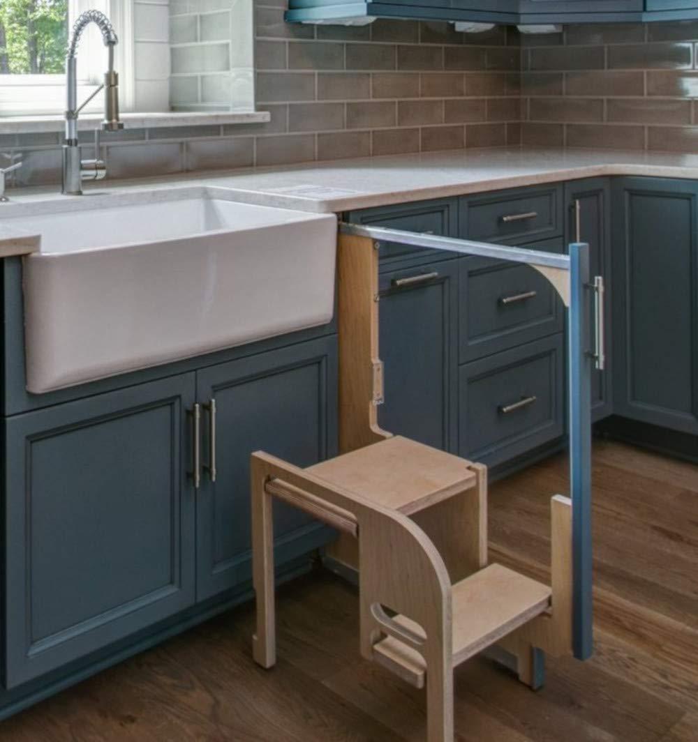Fabulous Amazon Com Hideaway Solutions Cabinet Step Stool Evergreenethics Interior Chair Design Evergreenethicsorg