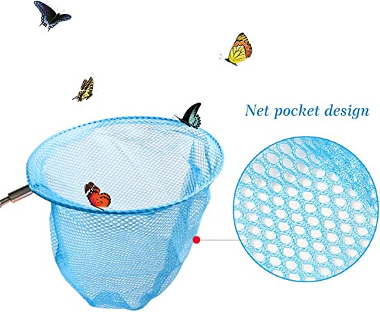 443D Telescopic Kids Extendable Butterfly Kids Extendable Fishing Tool Net Fish