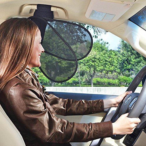 TFY Car Interior Roof Handle Sunshade Sun Protection plus Glare Reduction for Driver and Passengers (Driver Side Window Sun Shade)
