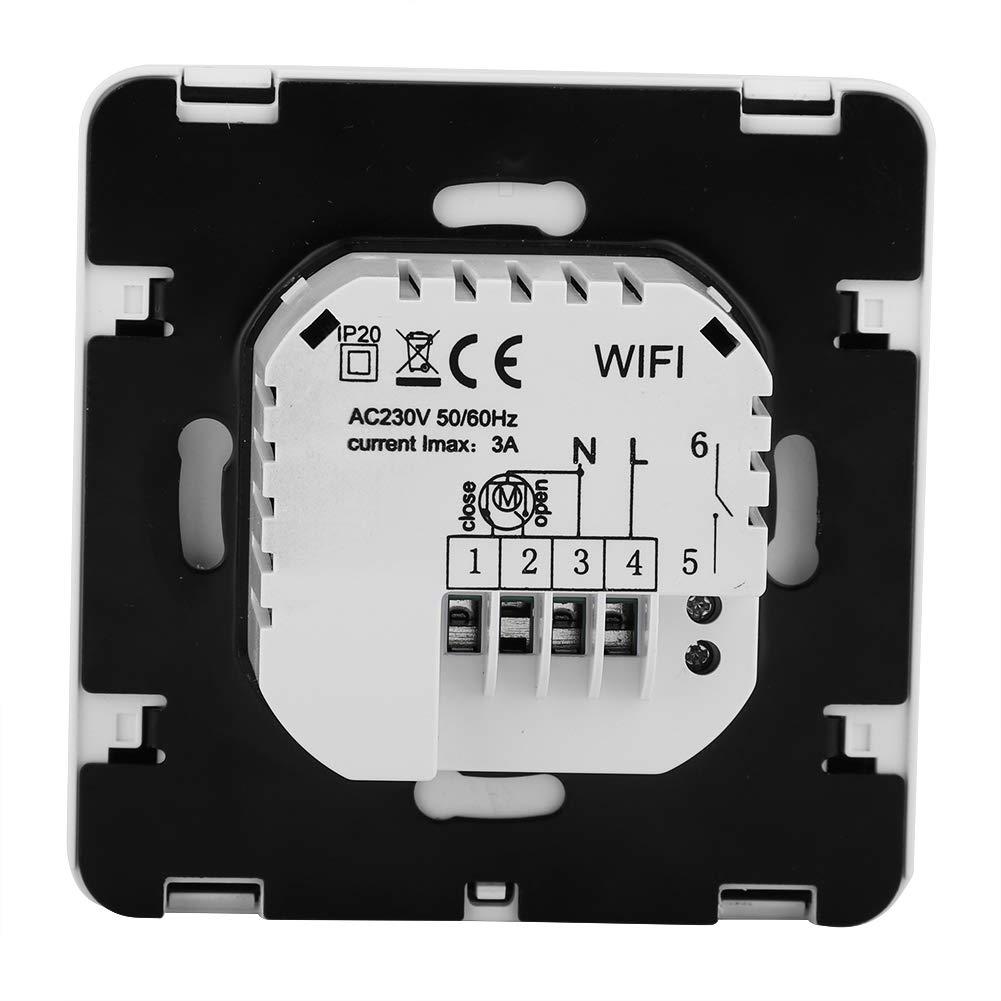 Wi-Fi Termostato programable inteligente 16A Pantalla LCD digital Controlador de temperatura de calefacci/ón HY02B05