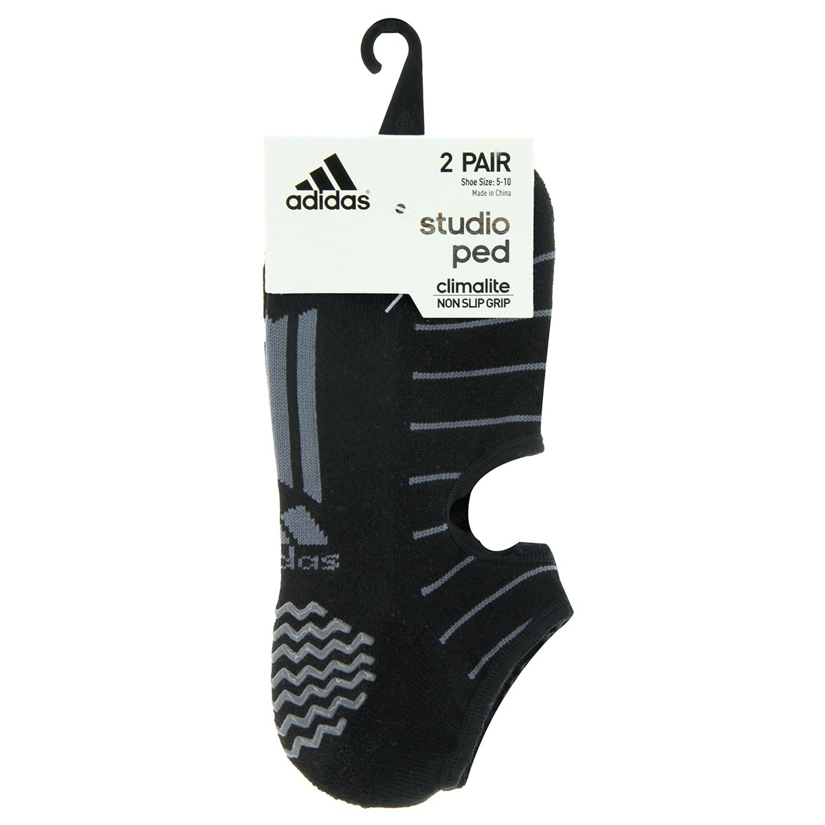 adidas Women's Studio Super No Show Socks (2 Pack)