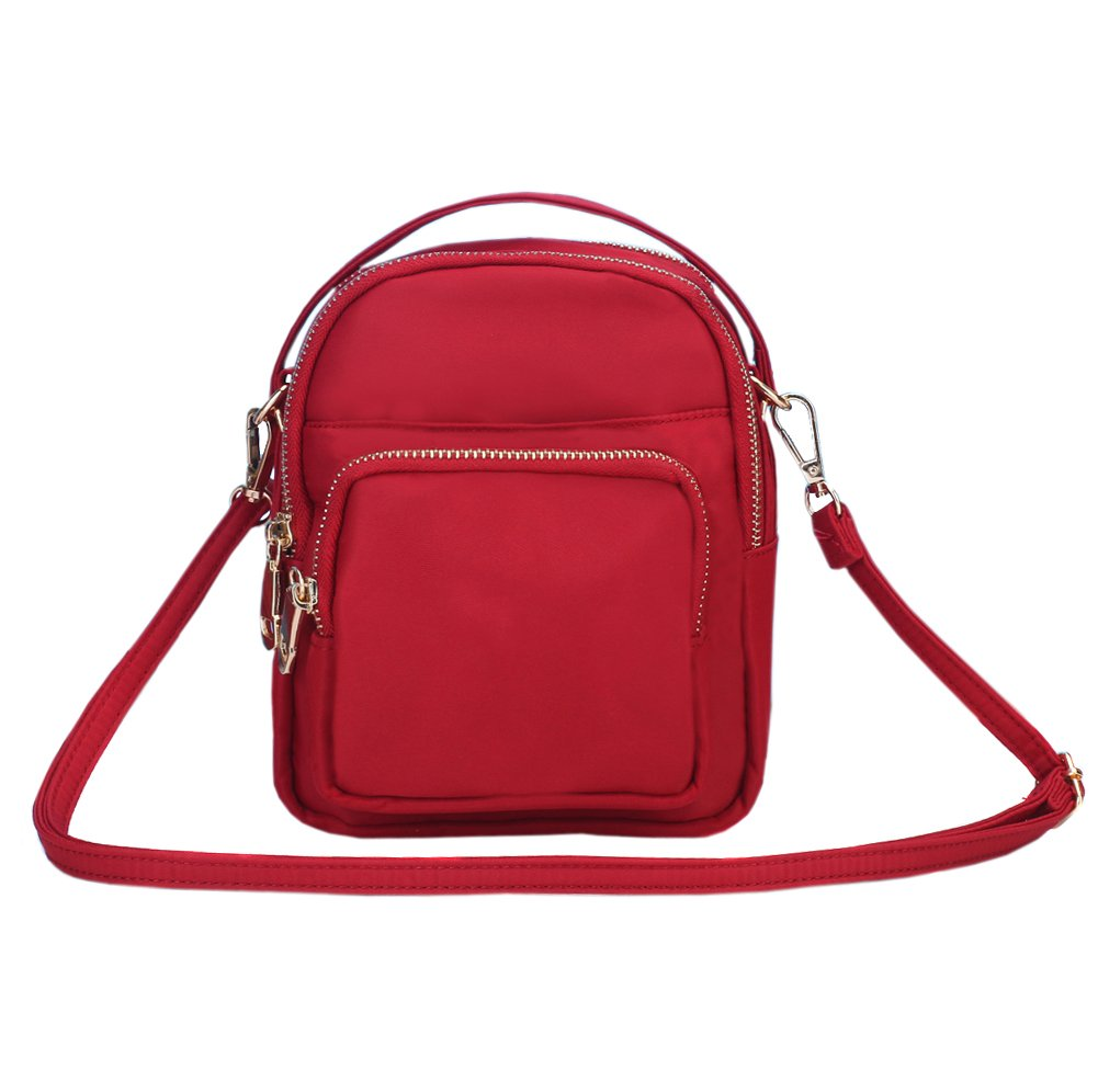 Toniker Nylon Multi-Pockets Women Small Crossbody Bags Purse Casual Water Resistant Shoulder Bag With Handy Carry