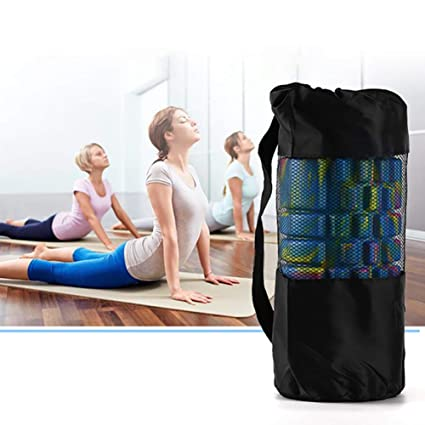 Balight Yoga Mat Bolsa de Malla de Almacenamiento Correa ...