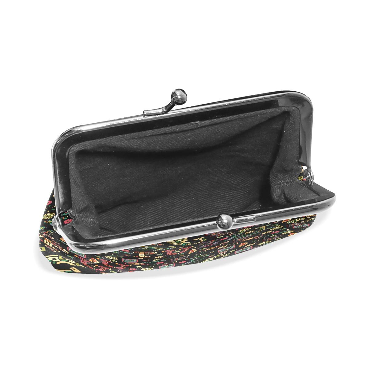 LALATOP Hand Drawn Background With Letters Ornaments Womens Coin Pouch Purse wallet Card Holder Clutch Handbag