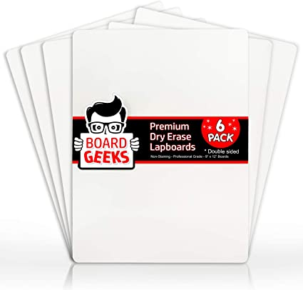 brainstorm Kids Play Easy Clean Dry Wipe Magnetic White Board Educational Toy Pack Of 12