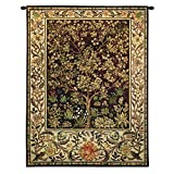Fine Art Tapestries ''Tree of Life Umber'' Wall Tapestry, Small