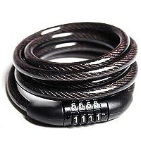 AllRight Antivol Câble Articulé Combinaison Serrure de Câble pour Vélo Bicyclette VTT 4 Chiffres Code