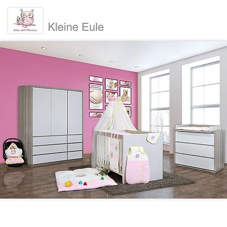 Baby habitaciones Atlanta en acacia gris 9 piezas con 3 ...