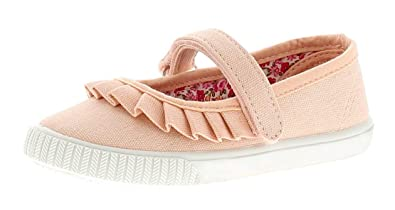 245f7ab478fc Princess Stardust Freya Girls Kids Canvas Shoes Pumps Trainers Pink - Pink  - UK Size 6