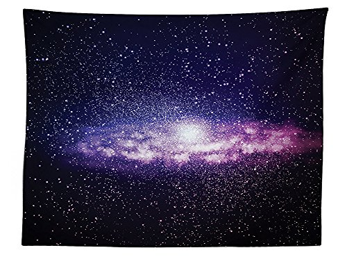 vipsung Galaxy Tablecloth Nebula Cloud in Milky Way Infinity in Interstellar Solar System Design Dining Room Kitchen Rectangular Table Cover Purple Dark (30h Gray Nebula Tables)