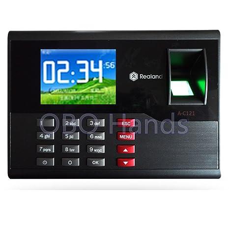 Ac121 TCP / IP sistema de asistencia biométrico de la huella digital reloj de tiempo empleado