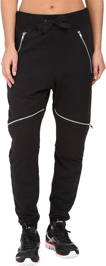 Reebok Women\u0027s Dance Knit Moto Pants, Small, Black
