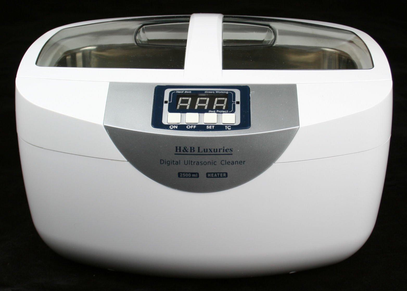 Industrial Grade 160 Watts 2.5 Liters Digital Heated Ultrasonic Cleaner by H&B Luxuries