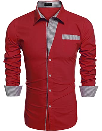 43db89aa71a LETE Men's Long-Sleeve Contrast Button-Down Shirt