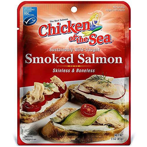 (Chicken of the Sea Skinless & Boneless Pacific Smoked Salmon, 3 Ounce Pouch(Pack of 12))