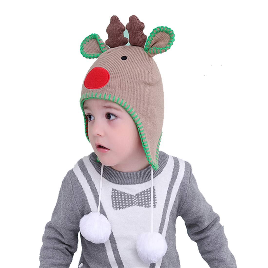 Bonvince Kids Winter Hat Beanies Caps Cute Thick Earflap Hat