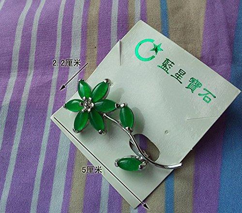 Emerald Glass Brooch - Maleic brooch imitation jade green glass Emerald