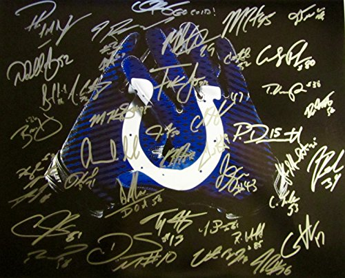 2015 Indianapolis Colts AUTOGRAPHED Team - Indianapolis Colts Signed 16x20 Photo Shopping Results