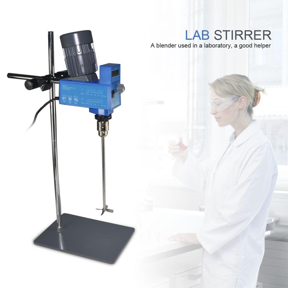 Lab Digital Overhead Stirrer Lab Mixer Heavy Duty Overhead Laboratory Mixer industrial liquid mixer 0~10000mpas, 20L, 2 Years Warranty by XZBELEC (Image #3)