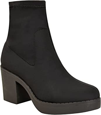 Fashion Thirsty Womens Chunky Low Mid
