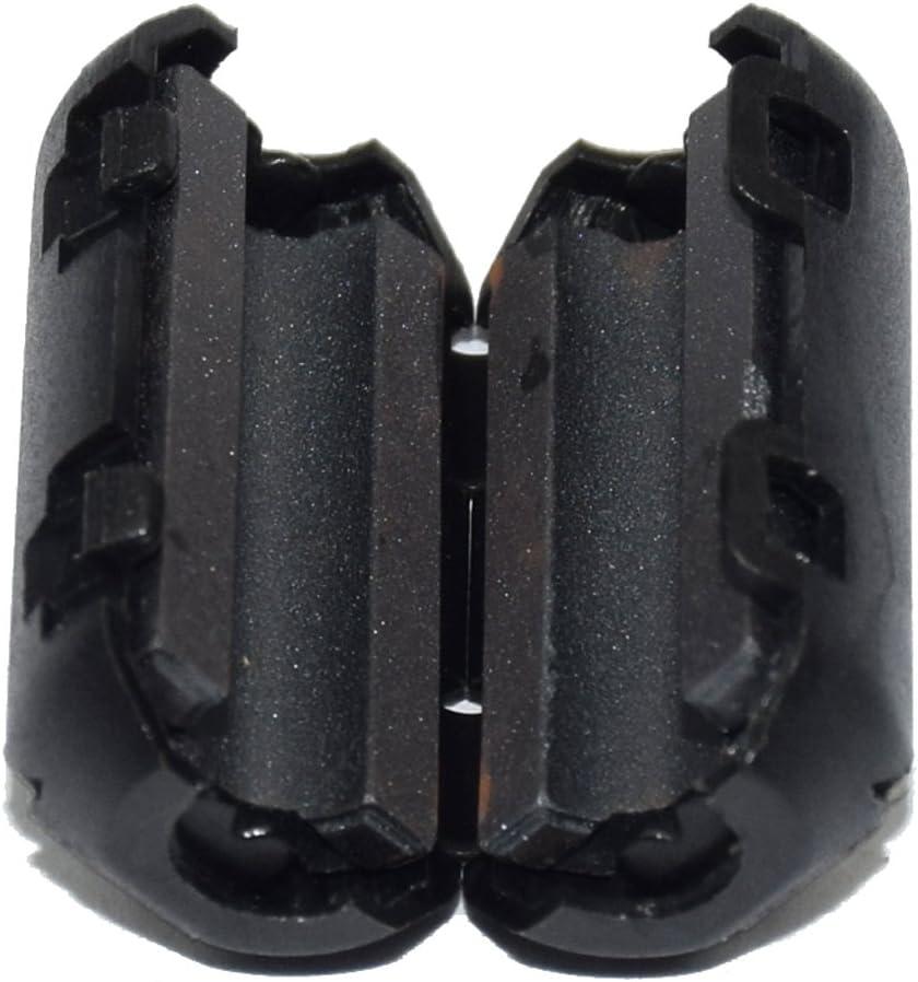 Audio Video Cable Power Cord Black stardrift 10-Pack 3mm Diameter Snap on Ferrite Core Bead Choke Ring Cord RFI EMI Noise Suppressor Filter for USB