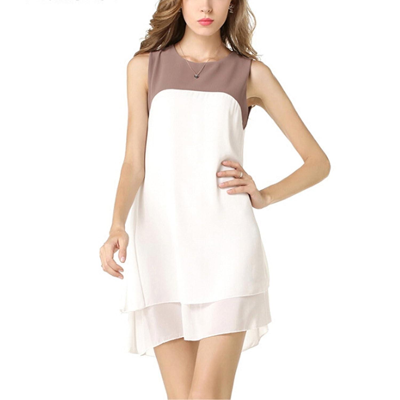 Tasso Damen Chiffon unregelmäßigen Kleid